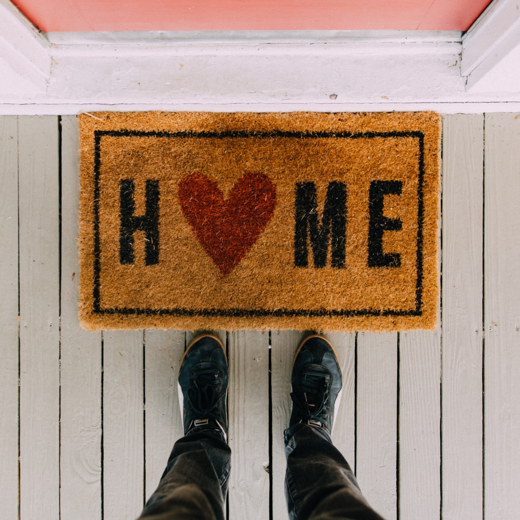 welcome home door mat
